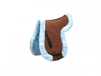 Podsedlová dečka s kožíškem (modro-hnědá) - cena: 70 HPo